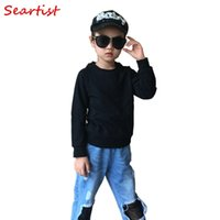 Seartist Baby Boys Girls Spring Sweatshirt Boy Girl Plain Bl...