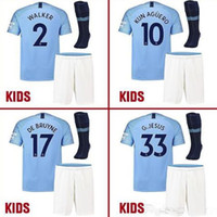 MAN City Home Soccer jersey 2018 19 HOME KUN AGUERO BOYS Ber...