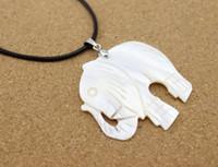 1 stück Natürliche Süßwasser Tier Elefant Shell Anhänger Halskette Tropfen Anhänger DIY Vintage Modeschmuck Charms F1169