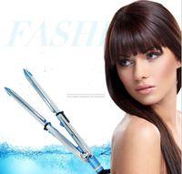 2 in 1 Haar Straighter Und Lockenwickler Eisen Edelstahl Keramik Hitze Flat Iron Titan Haarglätter Curling Kamm Friseursalon Werkzeug