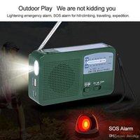 RD369 Radio di Emergenza Di Energia Solare Banca Potere Del Telefono Móvel FM AM Doppia Banda w / Torcia LED Sirena di Allarme per O