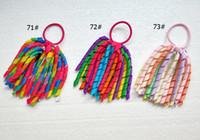18 PC Mädchen O A-korker Pferdeschwanz Halter Regenbogen-Haarzusätze Corker Quaste Streamer Haar Blume elastische Curly Band Kopfbedeckung PD002