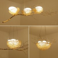 Golden Bird Nest Chandelier Aluminum Branches Pendant Lamp A...
