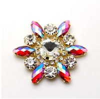50mm Flower Shape crystal Sew On Rhinestone With Claw Setting Silver Back  Fancy Stone Rhinestone applique Buttons For Garments 4b932e383121