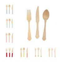 24pcs set Disposable flatware birthday cake kinfe forks spoo...