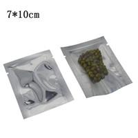 7 * 10 cm Bulk Food Pacuum Packaging Torba 200 sztuk Otwórz Top Clear Plastikowy Folia Aluminiowa Suszone przekąski Beef Beaf Fancee Pachnie