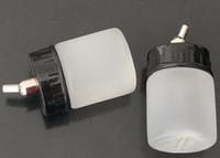30 stks Groothandel Wit Platic Airbrush Flessen voor Groothandel - 22cc Nieuwe Airbrush Air Brush Witte Fles Jar / Standaard Zuigerklid