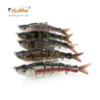 18 см 70 г 6-сегмент Isca искусственный щука приманка Muskie рыболовные приманки Swimbait воблер жесткий Bait рыболовные аксессуары FL6-J02