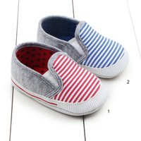 Classic Stripe Baby Walking Shoes Non Slip Infant Light Firs...