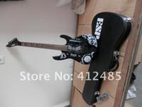 Preço de atacado vendedor de Alta qualidade New preto KH-2 Kirk Hammett Ouija branco guitarra elétrica com o caso