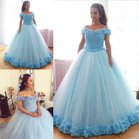 Outstanding Lingt Blue Appliques Ball Gown quinceanera Dress...