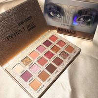 Hot Beauty Glazed Eyeshadow palette 18colors Matte وميض لامع ظلال العيون