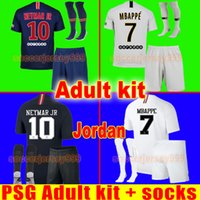 TOP PSG AIR JORDAN camisa de futebol Adulto kit 2019 Paris terceiro AIR NEYMAR JR MBAPPE CAVANI jerseys saint germain 18 19 camisa de futebol uniformes maillot