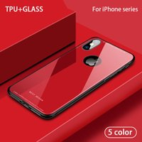 Tempered Glass Case For iPhone X 6 7 8 Plus 10X Back Cover T...