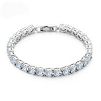 Roman Chain Bracelet For Women Luxury Cubic Zircon Inlay Cha...