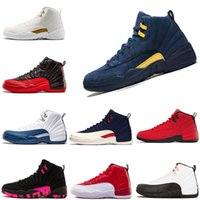 basketball shoes 12s mens shoe gamma blue taxi Playoff Flu G...