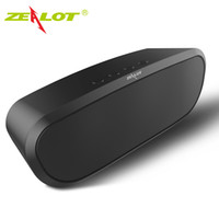 Original ZEALOT S9 Портативный беспроводной Bluetooth 4.0 Поддержка динамиков TF-карта AUX U-диск FM-радио Наружная громкая связь