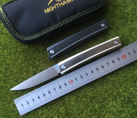 NIGHTHAWK NEW perfect lines folding knife D2 steel TC4 Titan...