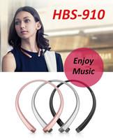 새로운 HBS 910 블루투스 이어폰 스테레오 스포츠 넥 밴드 HBS910 헤드폰 4.1 IOS 및 안드로이드 시스템 용 CSR 칩 무선 헤드셋