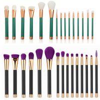 15 Pcs pinceaux de maquillage ensemble professionnel Poudre fondation Eyeshadow cils brosse à lèvres cosmétiques brosse kits beauté outils maquiagem