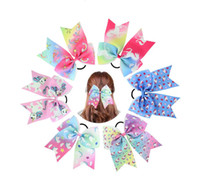 24pcs Baby Girl New Fashion Polyester Ribbon Unicorn Headban...