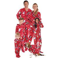 c5187bb749 Juego de pijamas de Navidad que combinan con la familia de Navidad Hombre  Mujer Bebé Bebé Ropa de dormir con capucha Ropa de dormir 2017 Nuevo Juego  de ...