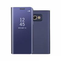Роскошный Зеркало Clear View Case для Samsung Galaxy A3 A5 A7 2017 Крышка Телефона Покрытие База Вертикальная Подставка