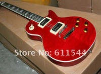 Free Shipping Newest Wavy top Custom Electric Guitar Sunburs...