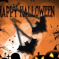 новый горячий ретро Хэллоуин черная кожа вампир летучая мышь женские серьги Европа и Америка мода серьги мода классический изысканный элегантность