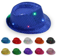 200 pz / creativo home decor jazz cappello palcoscenico prop flash cowboy cappello paillettes jazz cappello regalo