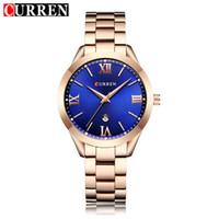 CURREN Frauen Uhr Luxus Fashion Uhren Frau Uhr Edelstahl Einfache Business Wriswatches Damen Relogio Feminino 9007