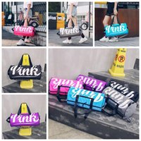 Women Pink Handbags 5 Colors Letter Printed Large Capacity S...