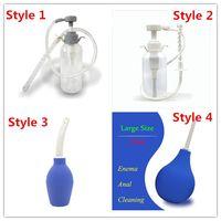 4 estilos escolher anal douche cleaner enema anal vagina desejo kit de limpeza, brinquedos do sexo anal, enema garrafa bomba enema saco produto do sexo