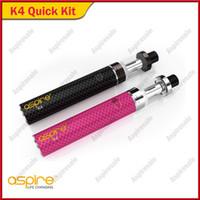 Quick Starter Kit autentico Aspire K4 con serbatoio cleito 3.5ml 2000mah K4 Batteria ricaricabile Porta di ricarica micro USB Porta penna portatile