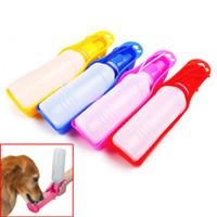 250ML esterni portatili bottiglie Pet Dog di acqua di plastica pieghevole del serbatoio potabile design Viaggi Ciotola Dispenser Bowl