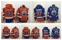 2017 New Edmonton Oilers Pullove 97 Connor McDavid 99 Wayne Gretzky 44 Zack Kassian 29 Leon Draisaitl Steins Hockey Jerseys Sport Sudaderas con capucha