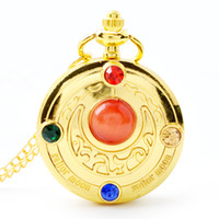 Wholesale 50pcs lot Pendant Chain Quartz Gold Watch Girl Poc...