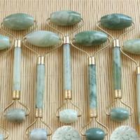 Doğal Jape Yüz Güzellik Masaj Aracı Jade Roller Yüz İnce Masaj Jade Merdane Fırça 420492