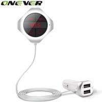 Onever 6-in-1 Eller Serbest Kablosuz Bluetooth FM Verici Modülatör Araba MP3 Çalar TF / SD Hafıza Kartı USB LCD Araba Aksesuarları