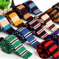 남자 넥타이 넥타이 매듭 넥타이 남성 캐주얼 솔리드 kintted 폴리 에스터 실크 좁은 디자인 플랫 넥 넥타이 넥타이 150 색 20 개