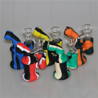 High quality new arrival Portable Mini Silicone bong Smoking...
