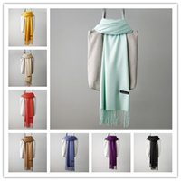 1 PCS Solid Cashmere Scarf 24 Colors Autumn Winter Plain Tas...