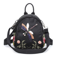 Kids Shoulders Bags Flower Embroidery Backpack Children Back To School Baby Oxford Schoolbag For Teenagers Girls Travel Backbag Mochila