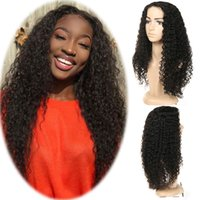 Jerry Curly Wigs Natural Black Color Lace Front Wigs Malaysi...
