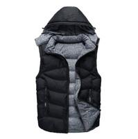 Mens Marke Designer Daunenweste beiläufige mit Kapuze Winterjacke Mann im Freien Windjacke unten doppelte Seiten Wearable Coat