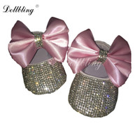 Pink Bow Infant Keepsake Sequins Chain crystal Handmade Doll...