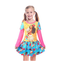 Girls Long Sleeves Dress Children Spring Autumn Cartoon Prin...