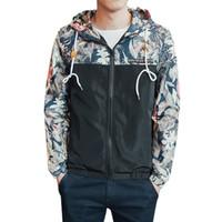 Autunno Bomber con cappuccio da uomo Giacca Hip Hop Slim Fit Fiori Pilot Bomber Cappotto da uomo Cappotto Giacche da uomo Casaco Plus Size 4XL