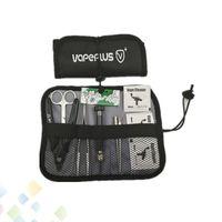 Vapeplus Tool Kit Sacs E Cigarette Accessoires Rouler Poche Pour DIY Ecig RDA RTA Atomiseurs Céramique Tweezer Plier Wraps DHL Gratuit