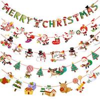 Navidad 2018 Banner Colgantes de pared Adornos de Navidad Adornos de Navidad Feliz Navidad Decoraciones para el hogar GA534